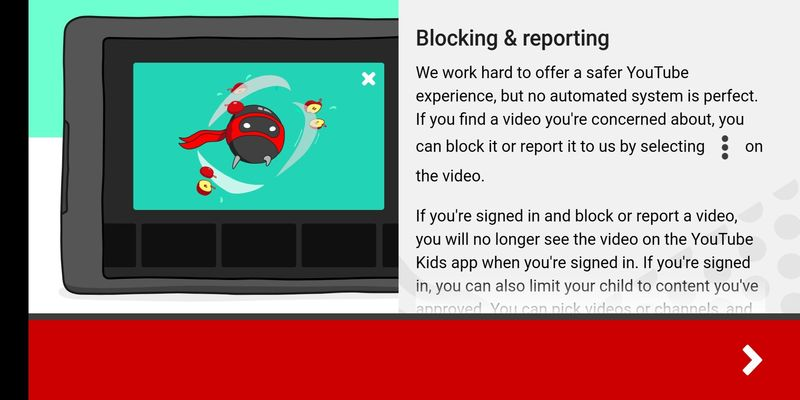 You can block and report inappropriate YouTube videos