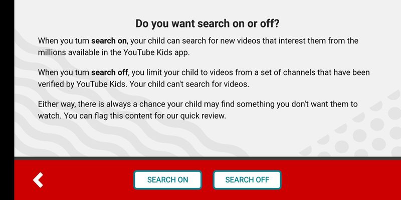 Switch off search on YouTube