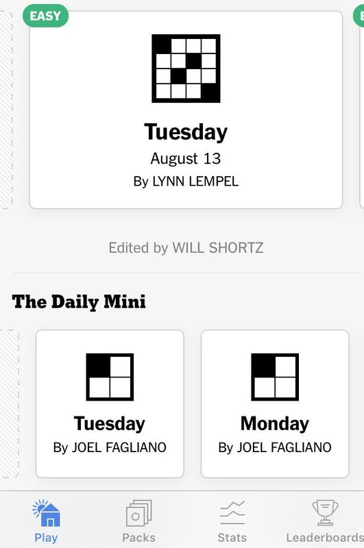 Download the New York Times Crossword app