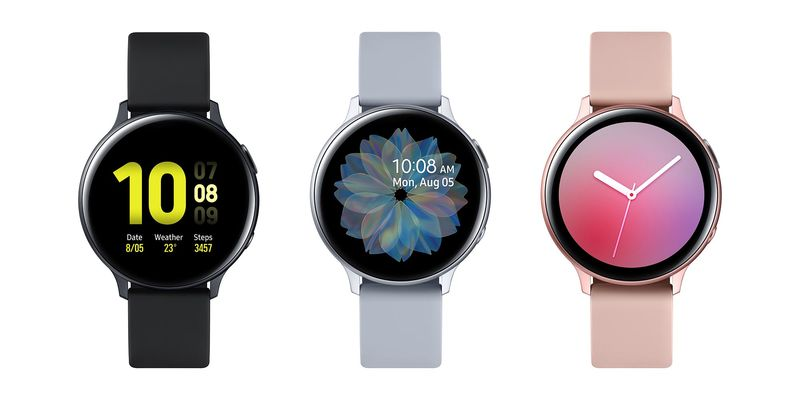 Samsung Galaxy Watch Active2 comes in many colours