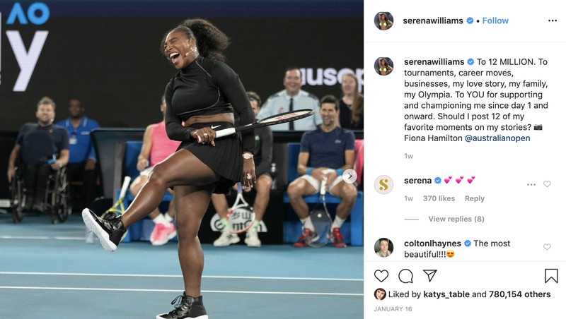 Follow Serena Williams on Instagram
